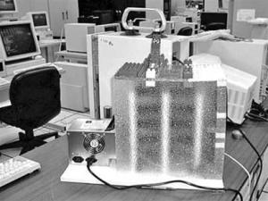 Một máy tính của Google thời đầu. Một phần được làm mô phỏng theo kiểu khối đồ chơi Lego
